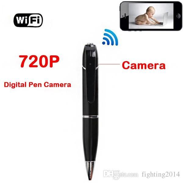 HD WIFI Caneta Câmera Monitor Remoto Sem Fio 720 P Segurança Mini Gravador De Áudio e Vídeo WI-FI P2P pen DVR para IOS Android