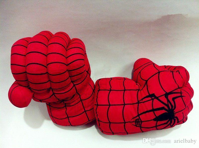 OHMETOY Spider-man Soft Plush Cosplay Toy Smash Hands Punching Boxing Boy Audlts Birthday Gift