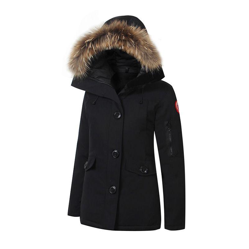 0c35fcde9ea 2019 2018 Brand New Womens Waterproof Down Jacket Winter Coat Warm  MonteBello Parka Ladies Fashion Real Raccoon Fur Fire Rhinoceros Jacket  From Bjgeruite