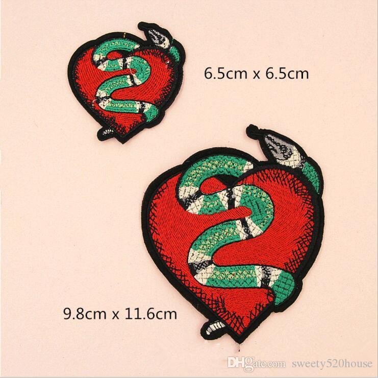 5 pezzi / set di alta qualità nuovi fiori e il serpente patter hot melt adesivo applique patch ricamo strisce di abbigliamento accessorio fai da te