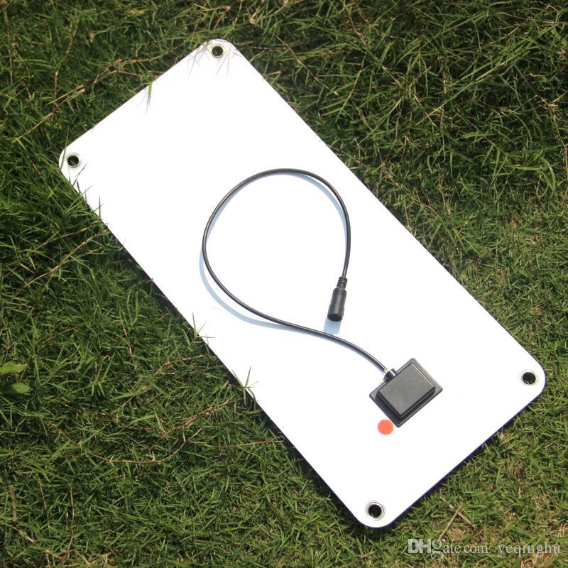 High Quality Semi-flexible 18V/5V 10.5W Portable Solar Panel Charger For 12V Car Boat Motor Battery Charger DIY Solar System