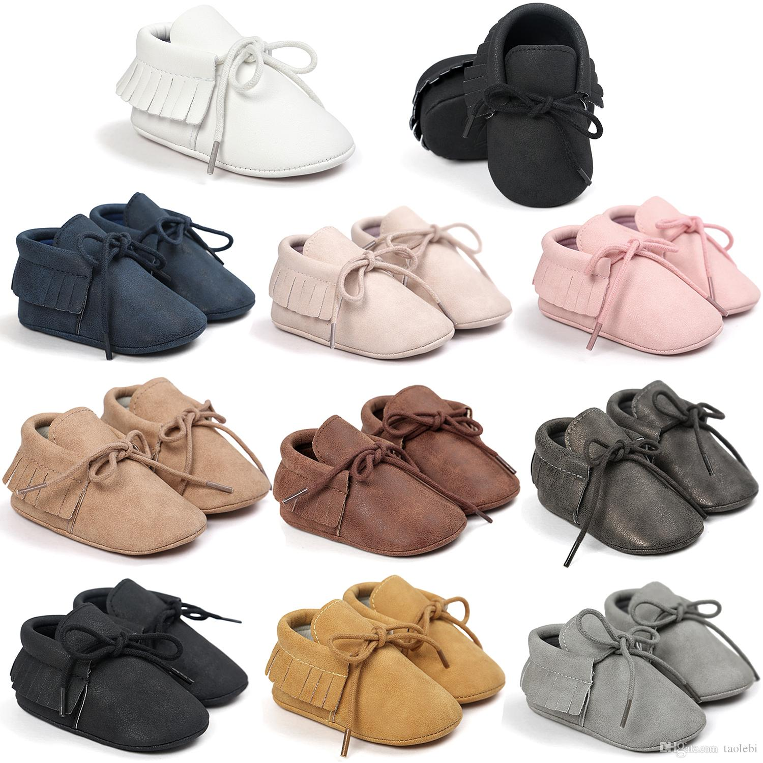 Can Mix StylesNo Brand Newest Baby Moccasins Soft Bottom Baby Shoes