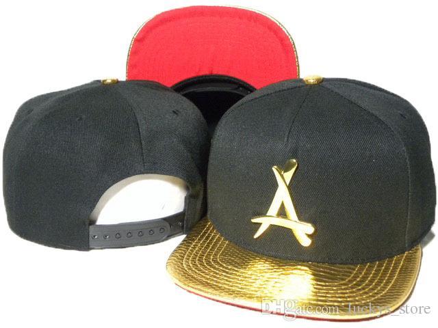 "New tha alumni gold ""A"" logo hats Snapback caps mens snapback cap basketball hat baseball caps bone snapbacks hip hop hats Ball Caps"