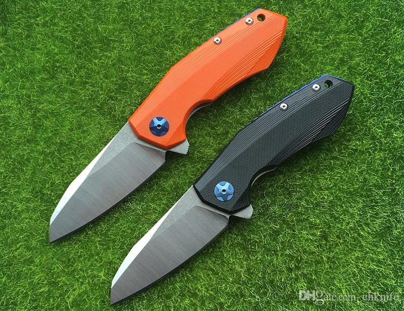 high quality ZT0456 folding knife,blade:D2Stain,handle Jade G10,outdoor camping hunting hand tools,wholesale,gifts
