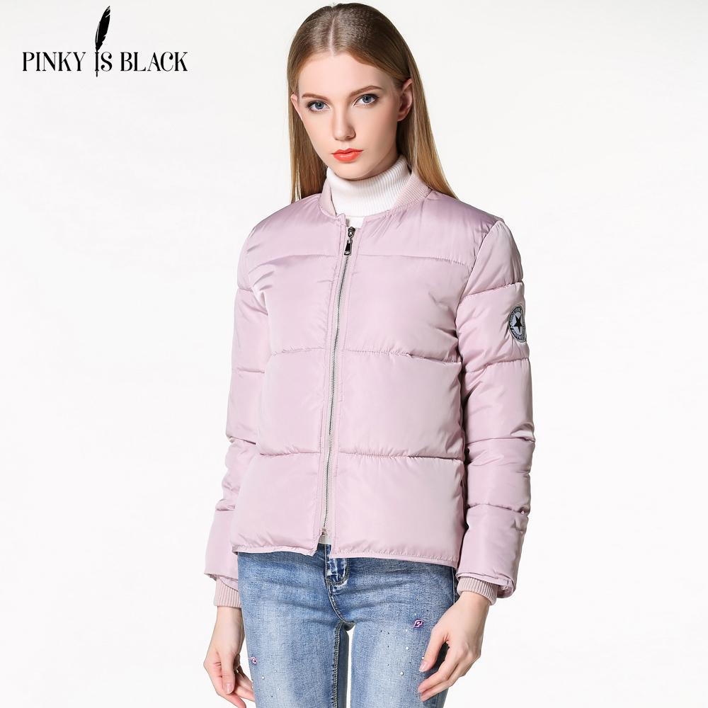 Compre X201711 Pinky Is Black Chaqueta De Invierno Mujer Long Sleeve ...