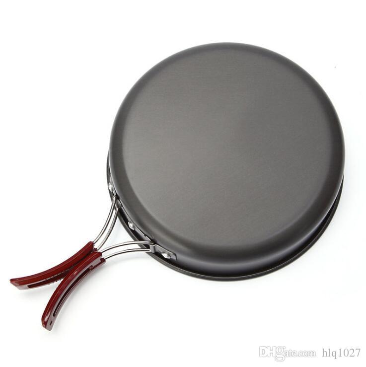 Wholesale Camping Hiking Picnic Outdoor Aluminium Alloy Pot Large Skillet Pan Portable Single Pot