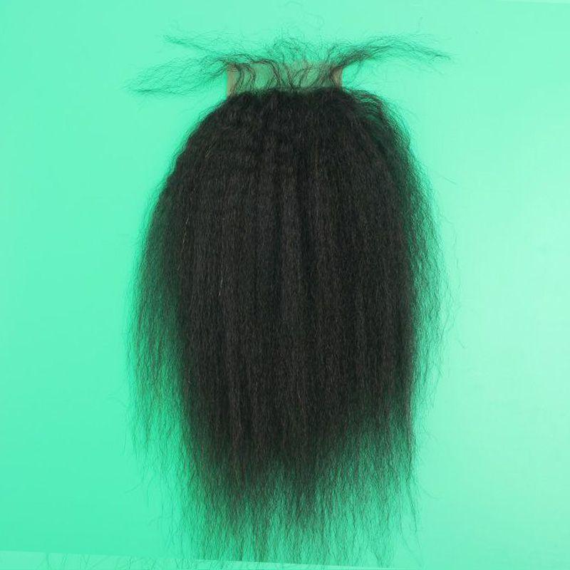 Indian Human Hair Lace Closure 4X4 Size Loose Wave Body Wave Straight Deep Kinky Curly Yaki Human Hair Closures