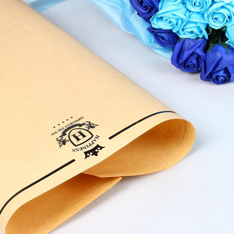 Papel de Embrulho Flor Dupla Face Floral Presente Embalagem Dyepaper Buquê Material Florista Suprimentos