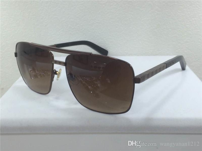 남성 선글라스 태도 선글래스 골드 프레임 사각형 금속 프레임 빈티지 스타일의 야외 디자인 클래식 모델