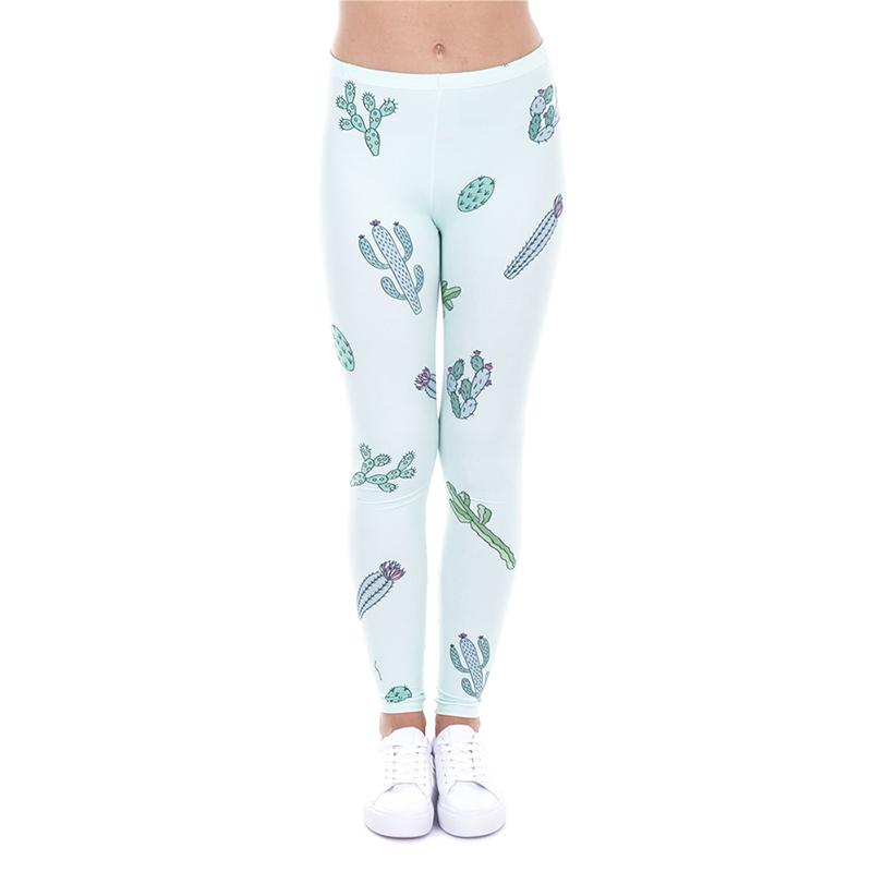e987418d9a 2019 Girl Leggings Go Sit On A Cactus Digital 3D Print Women Skinny  Stretchy Workout Full Length Pants Casual Yoga Sports Soft Trousers J43460  From ...