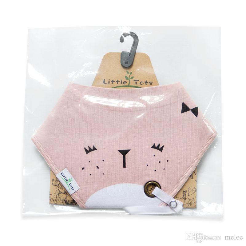 طفل الكرتون طباعة المرايل الرضع متعددة الوظائف القطن طبقة مزدوجة التغذية تجشؤ الملابس الفريدة هوة حامل مشبك مثلث اللعاب