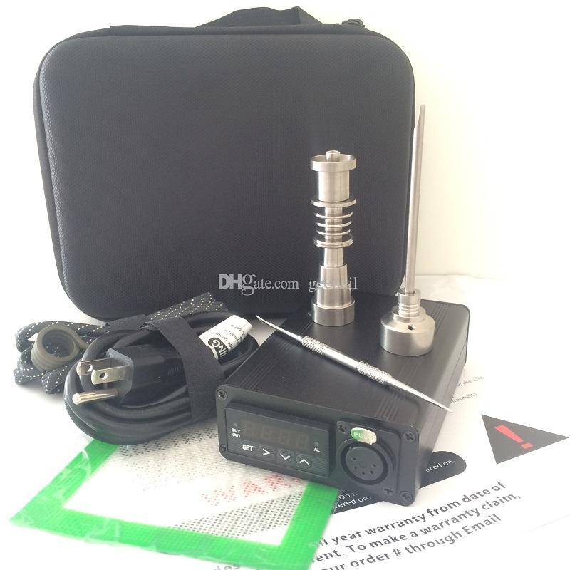 Taşınabilir E dab tırnak kuvars tırnak titanyum elektrikli dab tırnak ond teçhizat kitleri bong PID sıcaklık kontrolü dabber kutusu kuru herp