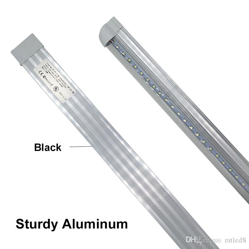 US-Lager V Shaped 6000 - 6500K 4ft 5ft 6ft 8ft Kühler Tür LED-Leuchten Tubes T8 Integrierte LED-Röhren Double Seiten SMD2835 Leuchtstofflampen