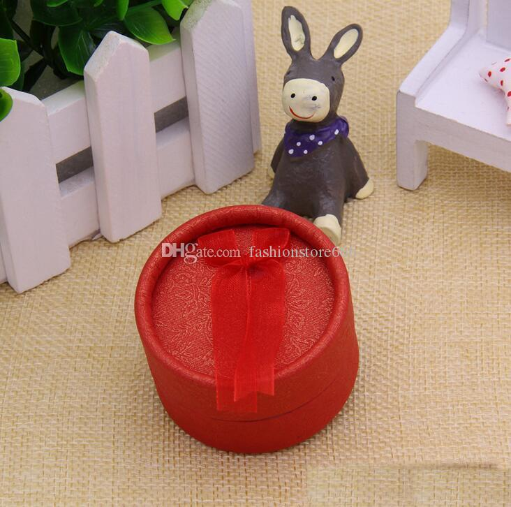 5*3.5cm paper round ribbon ring box jewelry gift box ring box jewellery boxes and packaging