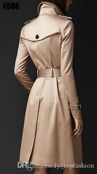 2018 Herbst neue Marke Frauen Trenchcoat lange Windbreaker Europa Amerika Modetrend Zweireiher schlanke lange Graben Q1534