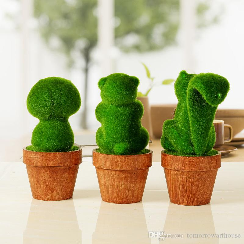 Simulation Grass Animal Models Creative Home Accessories Ornaments Office Desktop Decorations Gifts
