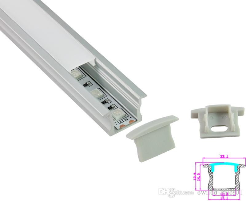 100 X 2M sets6000 series aluminum profile for led T style aluminium led housing channel for wall recessed lights