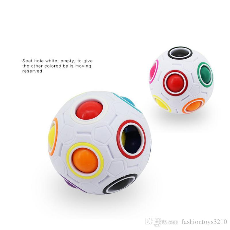 2017 NEWEST Rainbow Magic Balls Speed Football Fun Creative Spherical Puzzles Kids Educational Learning Toys games for Children Adult Gifts