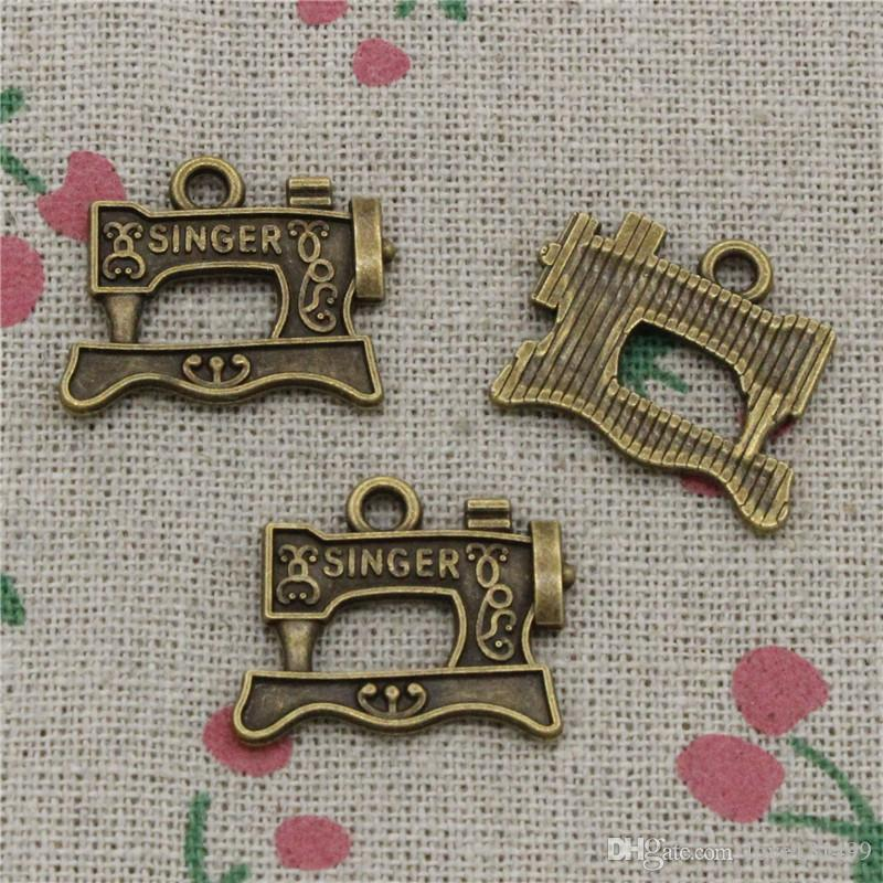 2019 Charms Vintage Singer Treadle Sewing Machine 20*17mm