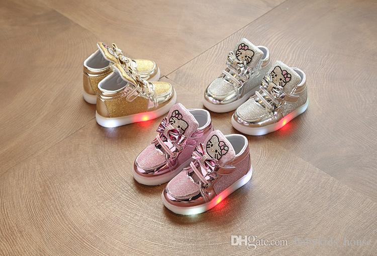 low priced 0af1f e9238 NEUE Kinder Leuchten Turnschuhe Kinder LED Leucht Schuhe Jungen Mädchen  Bunten Blinklicht Turnschuhe Größe 21-30