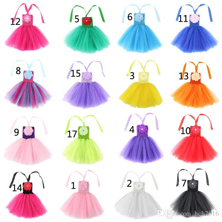 Baby Kids Clothing 2018 Flower girls dresses children princess costume party dress toddler clothes dance costume ballet performance #081