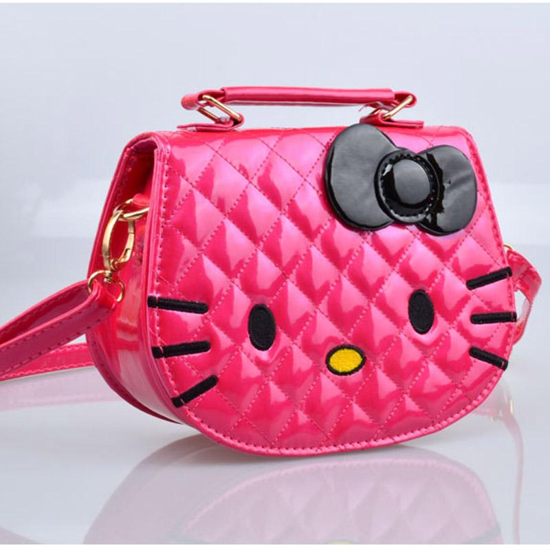 Wholesale 2016 Cute Hello Kitty Kids Small Shoulder Bag High Quality PU Cat  Little Girls Crossbody Bag Red Black Gold Handbag For Child Cheap Purses ... 4d343834cad26