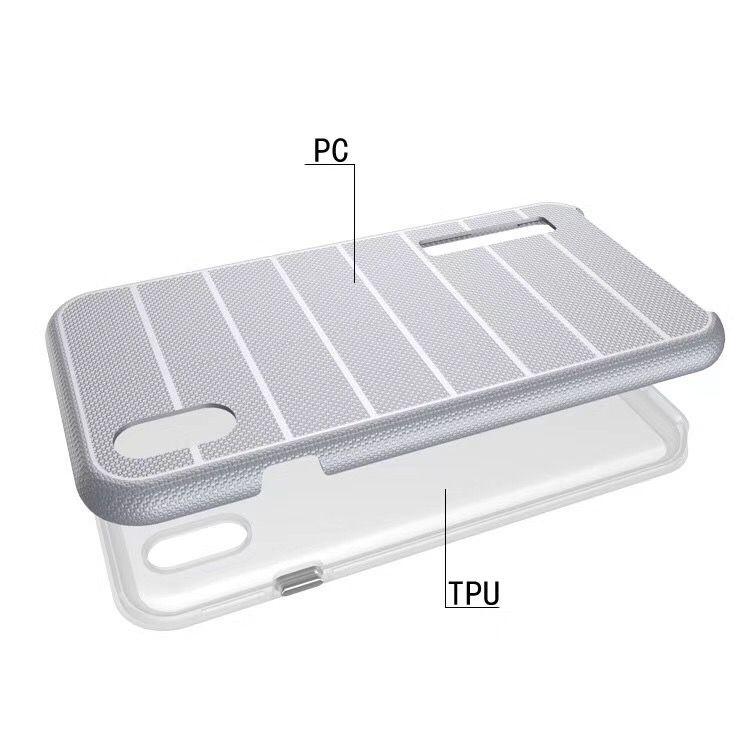 Çift Katmanlı hibrid Sert Silikon + TPU Arka Kapak Darbeye İnce Zırh iPhone XS Max XR X 8 7 6 Artı