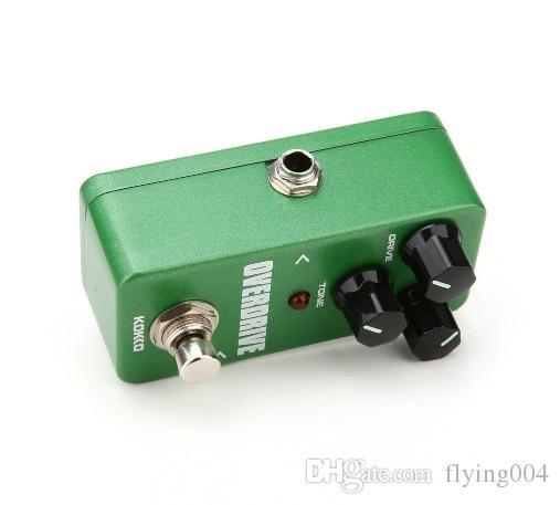 무료 배송 Mini KoKKo 빈티지 오버 드라이브 기타 이펙트 페달 기타 라 오버 드라이브 부스터 하이 파워 튜브 과부하 기타 Stompbox FOD3