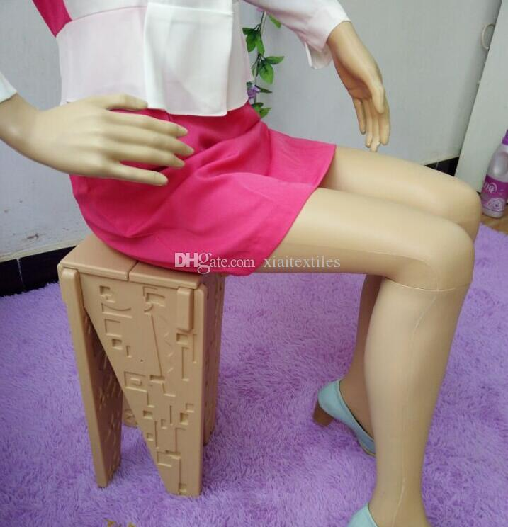 wholesale All plastic sewing mannequins woman, props, ladies, models, clothing stores, display stands, cosmetology sitting models B895