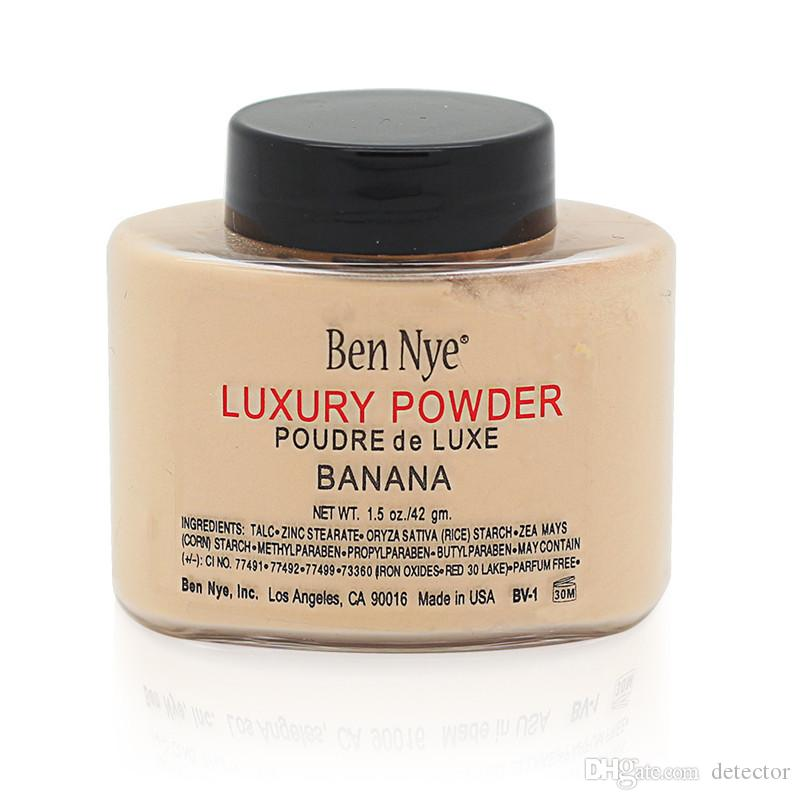 2017 Newest Ben Nye Luxury Powder 42g New Natural Face Loose Powder Waterproof Nutritious Banana Brighten Long-lasting