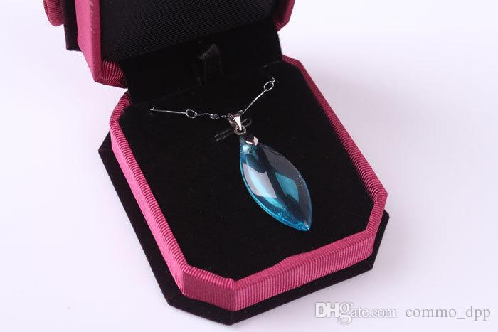 Nuovi arrivi contenitori di monili imballaggio collane ciondolo anello del velluto orecchini di lusso elegante Classic Show Case Box 78 * 67 * 30MM