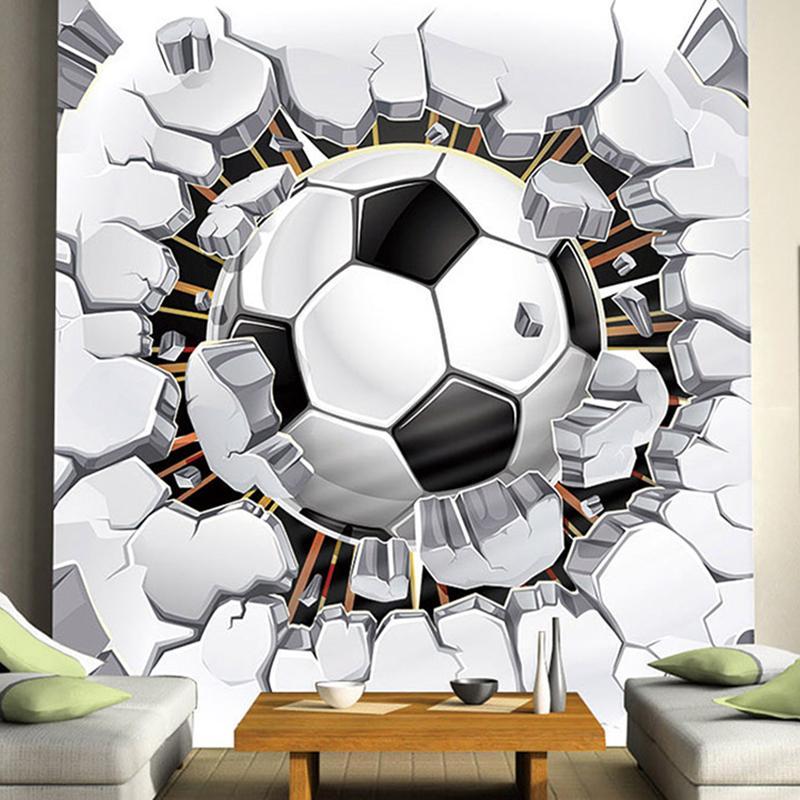 Wholesale Cool Football Photo Mural Custom Any Size 3d Boys Kids