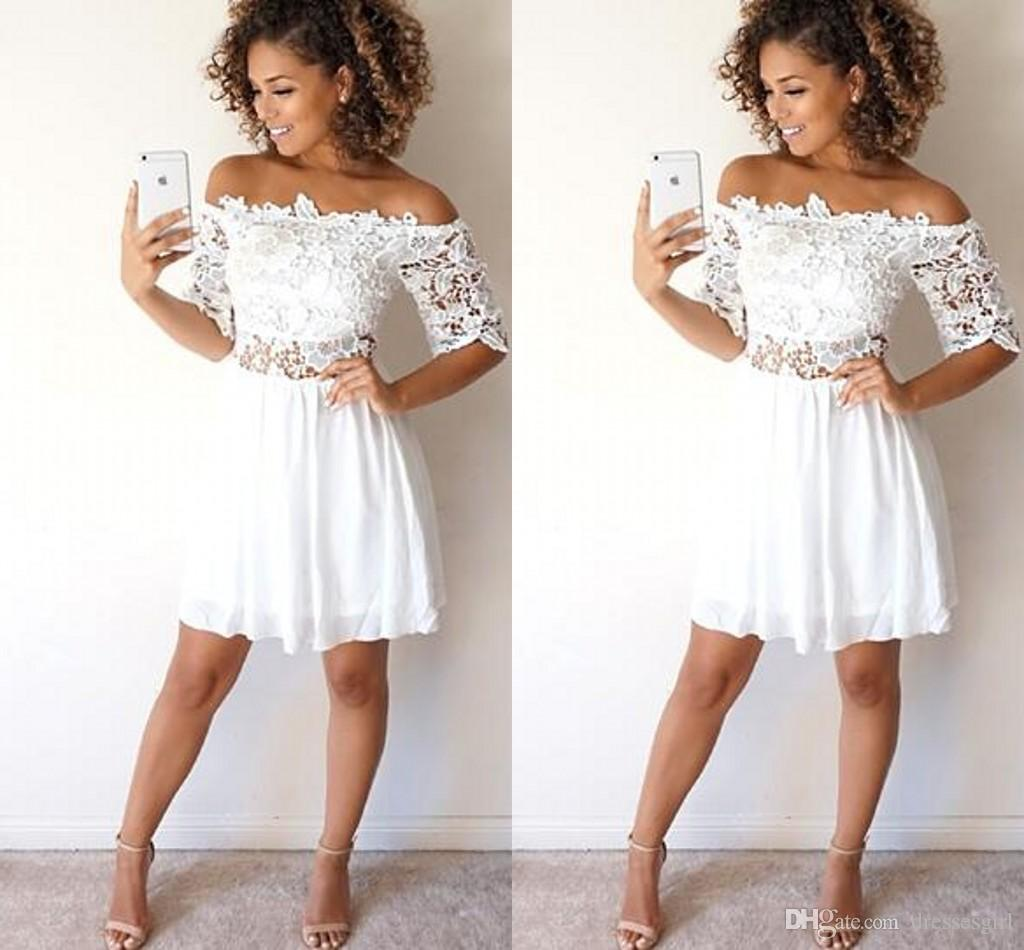 2017 short cheap women cocktail dresses off shoulder a line prom 2017 short cheap women cocktail dresses off shoulder a line prom dresses with short sleeve party dress plus size formal homecoming gowns one shoulder ombrellifo Image collections