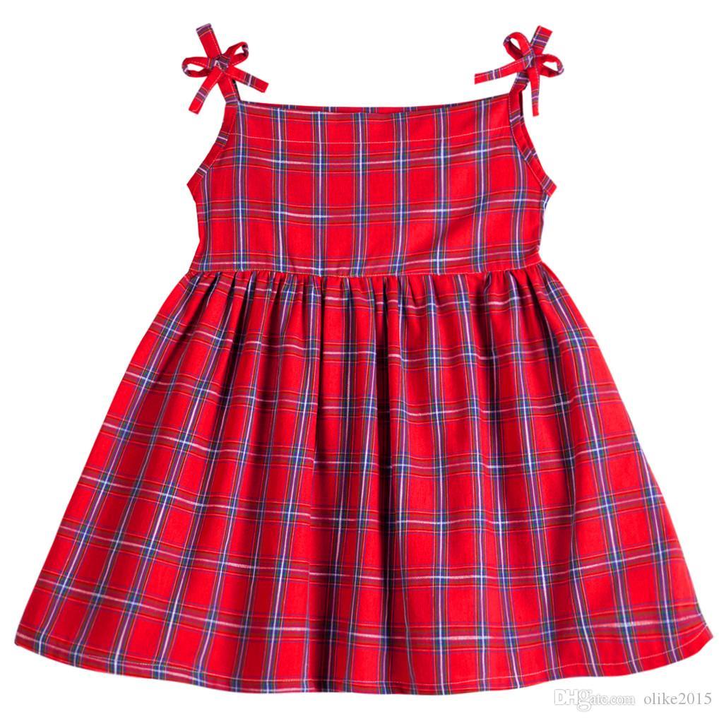 c463251fd7ca 2019 Kseniya Kids 2017 Baby Girls Vest Dress Brand Summer Beach Style Party  Dresses For Girls Vintage Toddler Girl Clothing 2 8yrs From Olike2015, ...
