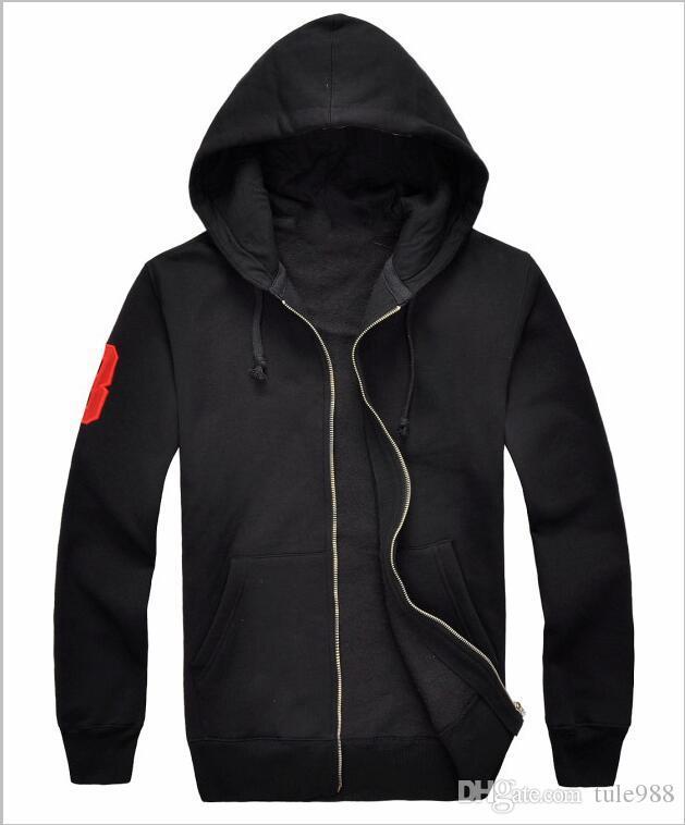 Hoodies del cappotto di vendita calda di alta qualità nuova Primavera Autunno Inverno Classic dell'uomo Cardigan ispessimento Uomini Movimento rivestimento di svago