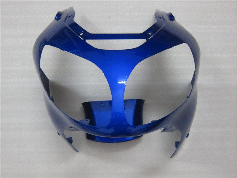 trasporto libero + 10 luci regali Blu puro Kawasaki Ninja ZX12R 2000-2001 fairin