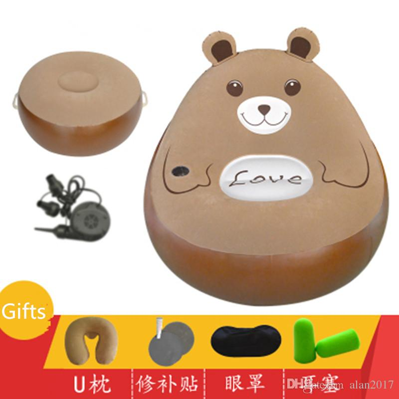 Fashion Folding Beanbag Sofas With Footstool Totoro Bed Cartoon Mattresses Inflatable Sofa Living Room Furniture Muebles