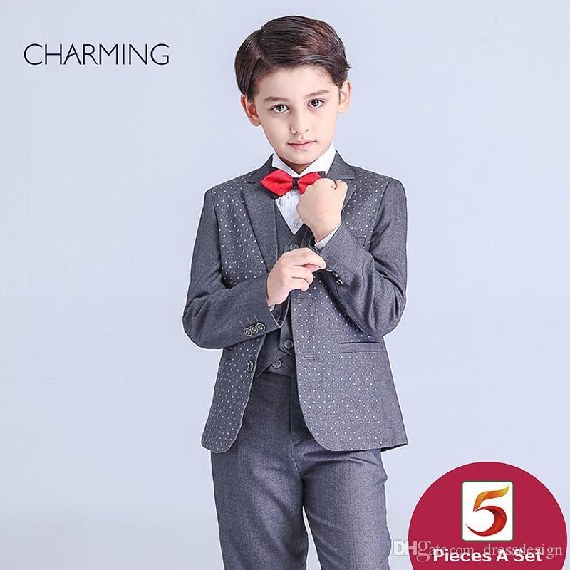 01b574228739 Brand New Page Boys Wedding Suits Long Sleeve Style Suit High Quality  Fabrics Boys Suit Discount Promotion From China Suppliers Designer Kids  Clothing Dress ...
