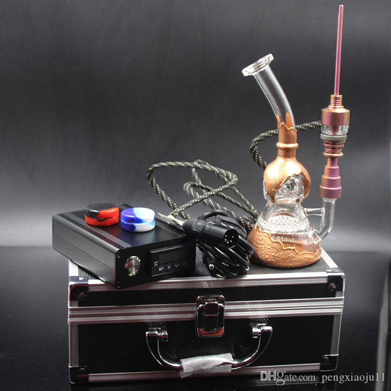 Digital Nail kit D Nail with color hybrid nail Heady Fab egg recycler glass bong colored Oil Rig