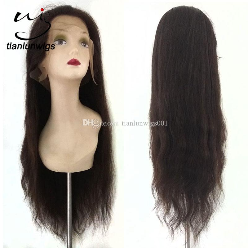 Cheap Factory Price 22inch Straight Human Hair Lace Wigs With Baby