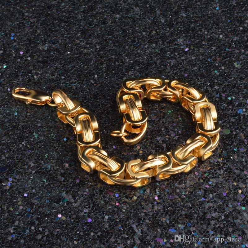 mens womens gold chain 18K gold plated bracelet men's figaro chains bracelets for Men Women luxury jewelry man woman fashion accessories