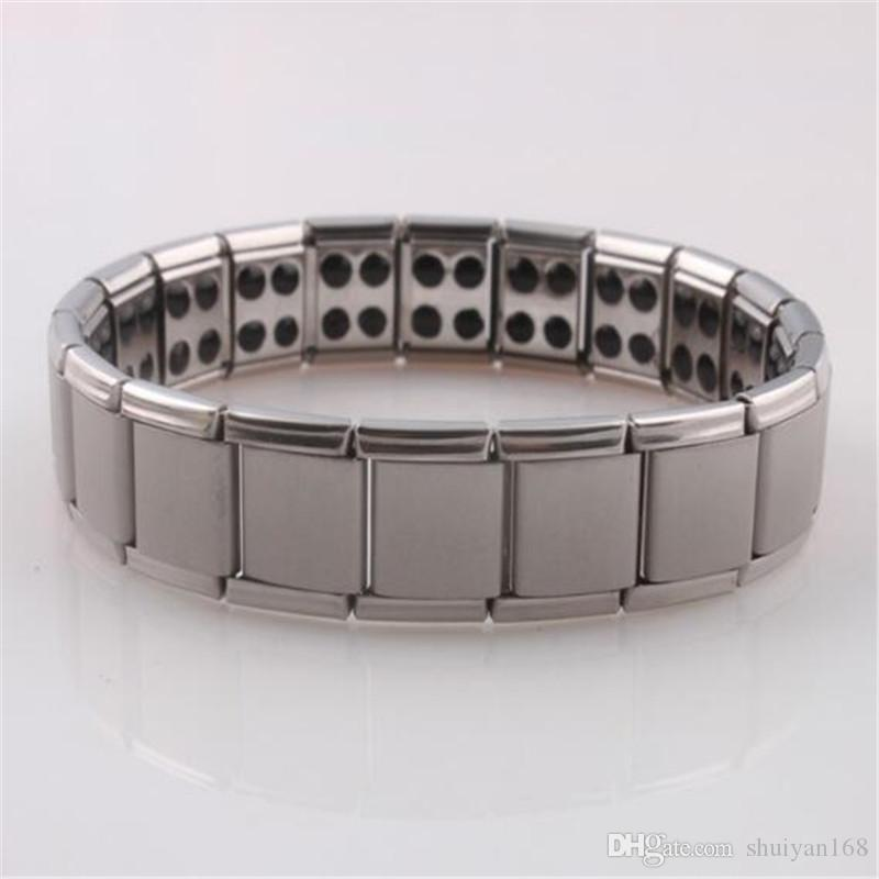 Germanium Stones Titane Bracelet En Acier Inoxydable Soins De Santé Bracelet Accessoires Magnétique Vente Chaude Bijoux Livraison Gratuite