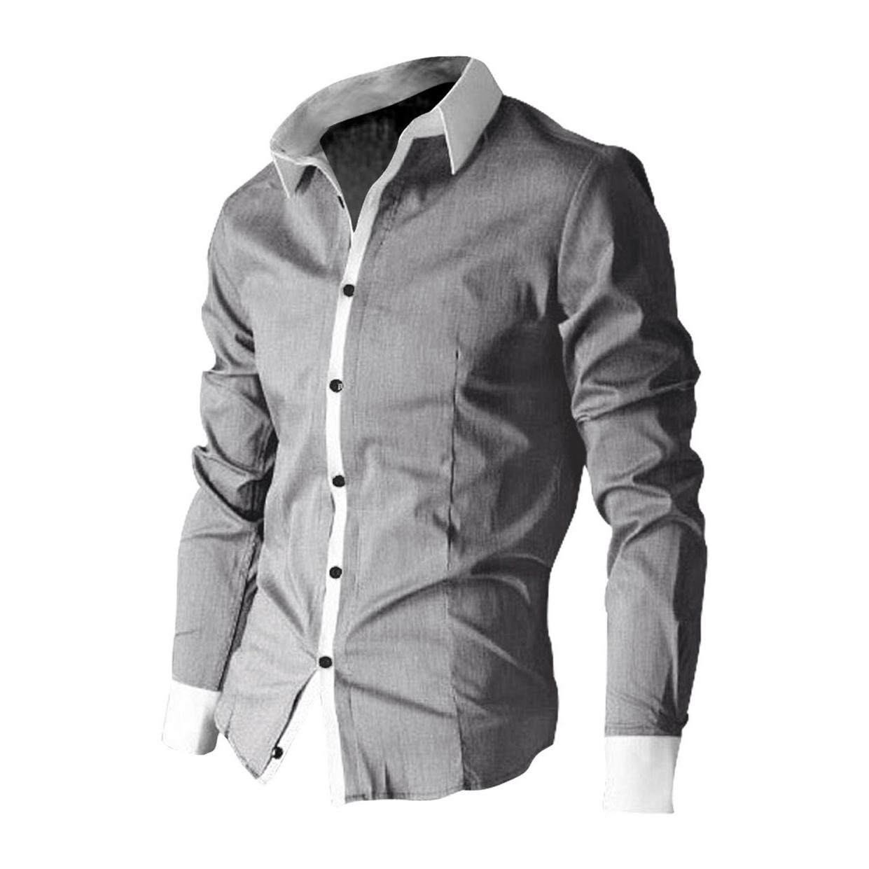 e61a7afc82f Wholesale- 2017 NEW Men Dress Shirts Long Sleeved Casual Shirt with ...