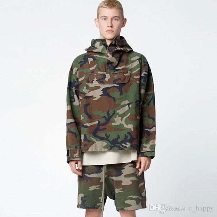 Design Camo Jacket Fear Of God Men Hip Hop Pullover Top High ...