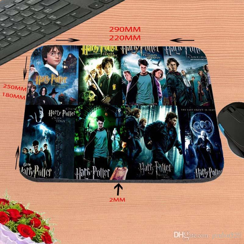 Hot Sell Print Design Anti-slip New Arrival harry potter All Movies Customized Rectangular Mouse Pad Computer PC Nice Gaming
