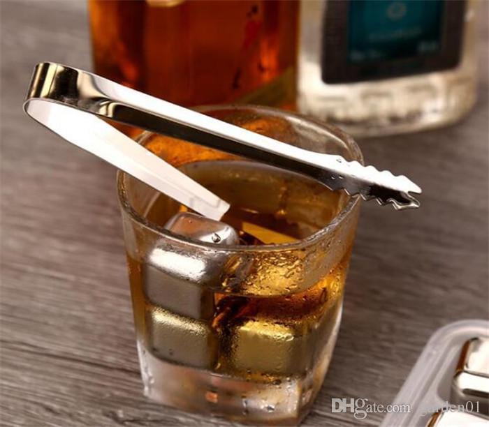 En Acier Inoxydable Glace Vin Vin Whisky Bière Refroidisseur Pierres Rock Stéatite Glacier Rock Beer Congélateur Refroidisseurs Refroidir Cube G098