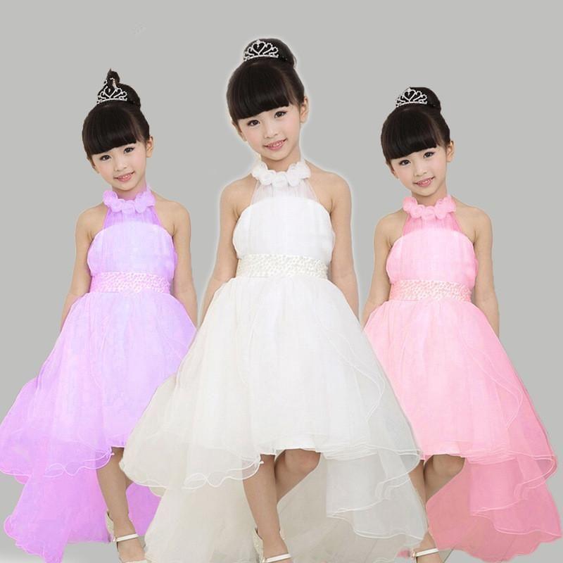 616b2b1e2 2017 Kids Infant Girl Flower Petals Dress Children Bridesmaid ...