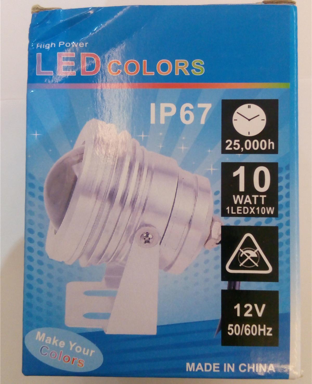 1000LM 10W 12V sous-marine RVB Led lumière étanche IP68 fontaine bassin piscine lampe 16 changement de couleur avec 24 clé IR contrôleur à distance
