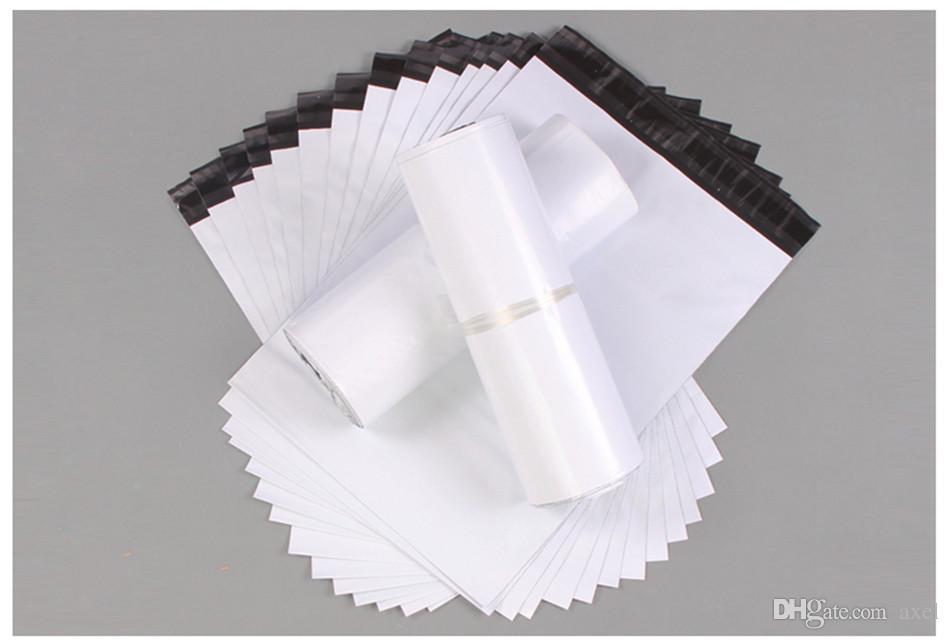 10x19 سنتيمتر الأبيض بولي الارسال الشحن أكياس التعبئة والتغليف البلاستيكية المنتجات البريد بواسطة ساعي التخزين لوازم بريدية حزمة الحقيبة ذاتية اللصق الكثير