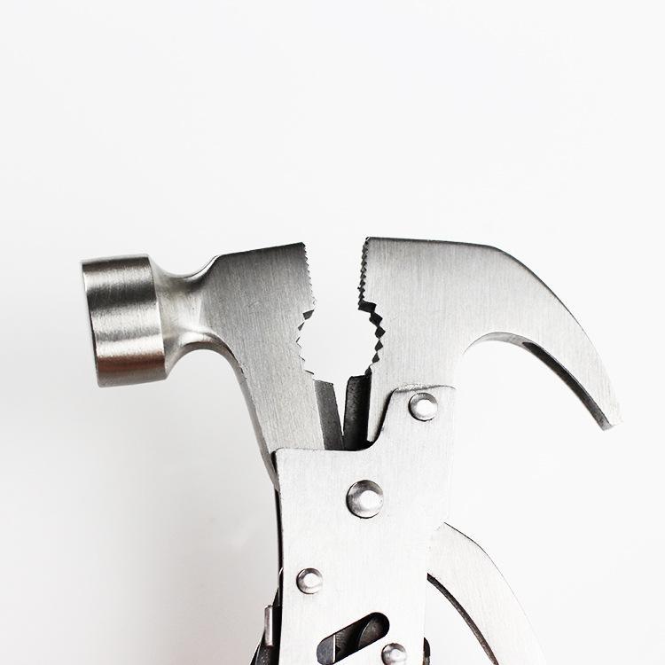 Multifunktionale Auto Sicherheit Hammer 2CR13 Edelstahl Zangen Hammer Multifunktionale Horn Hammer